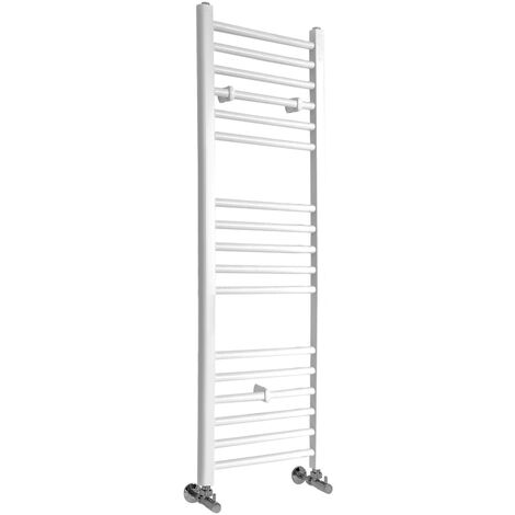 Hudson Reed Ive - Sèche-Serviettes Design Moderne Plat - Blanc - 120 cm x 40 cm