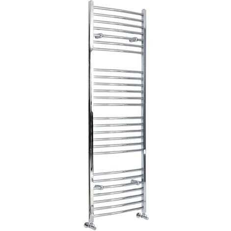 Hudson Reed Kent - Sèche-Serviettes Design Moderne Incurvé - Chromé - 180 cm x 49,8 cm