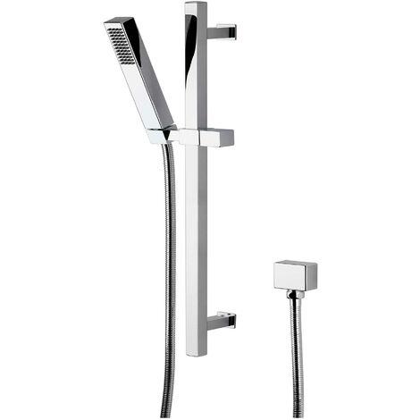 Hudson Reed Kubix Slider Shower Rail Kit, Pencil Handset, Chrome