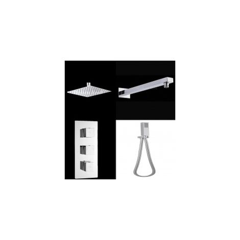 Hudson Reed Kubix Thermostatic Shower Mixer With Overhead And Handheld