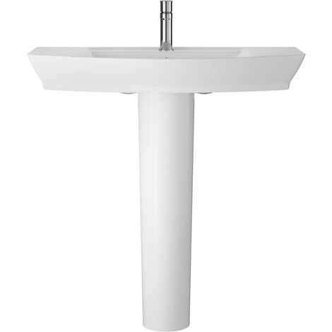 Hudson Reed Maya Basin with Full Pedestal 850mm Wide - 1 Tap Hole