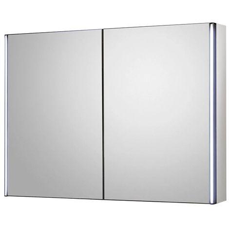 Hudson Reed Meloso 800 X 600mm Bathroom Mirror Cabinet