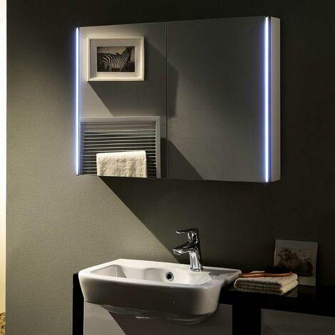 Hudson Reed Meloso Bathroom Mirror Cabinet 600mm H x 800mm W