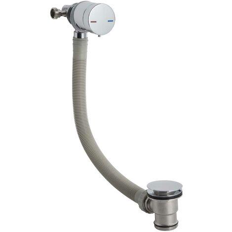 Hudson Reed Minimalist Freeflow Bath Filler and Waste, Single Lever, Chrome