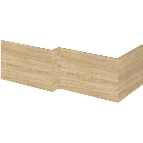 Hudson Reed Natural Oak 700mm Square Shower Bath End Panel - OFF379