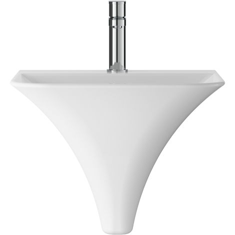 Hudson Reed NCT102 Grace | Wall Hung Basin, White