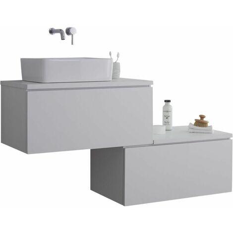 Hudson Reed Newington - Meuble Pour Vasque à Poser Eclairage LED Blanc