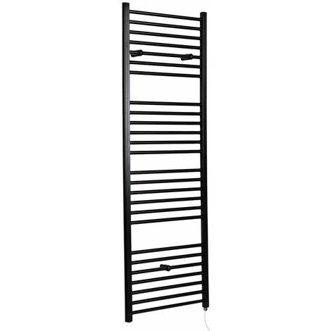 Hudson Reed Nox - Sèche-Serviettes Design Électrique Moderne Plat - Noir - 180 cm x 60 cm