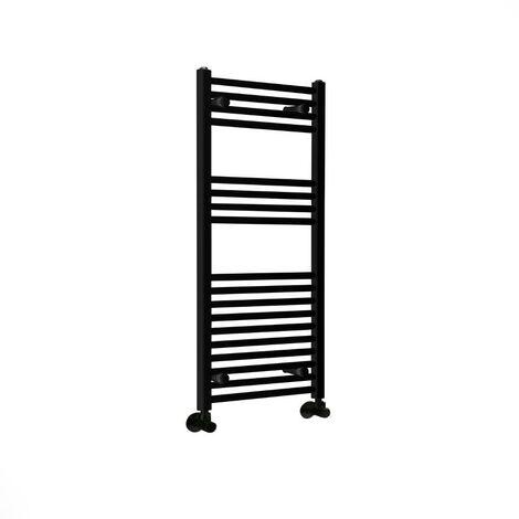 Hudson Reed Nox - Sèche-Serviettes Design Moderne Plat - Noir - 100 cm x 50 cm