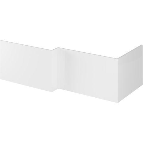 Hudson Reed OFF179 Bath Panels | 700 Shower Bath End Panel, Gloss White