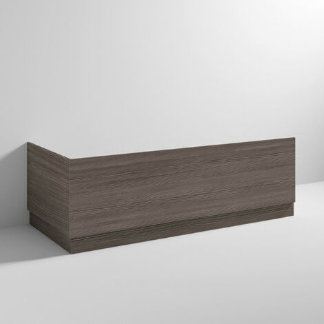 Hudson Reed OFF577 Bath Panels | 1700 Bath Front Panel & Plinth, Brown Grey Avola