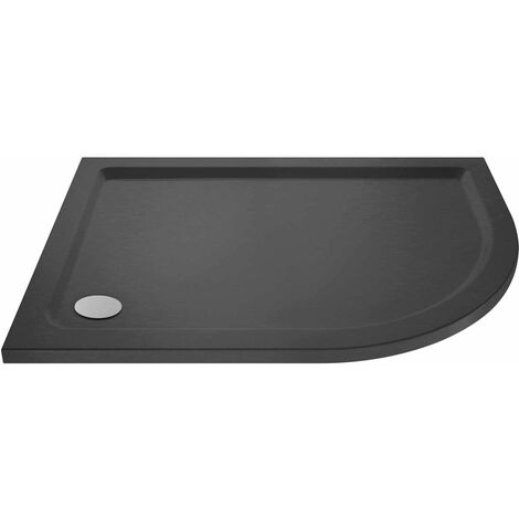 """main image of """"Hudson Reed Offset Quadrant Right Handed Shower Tray 1000mm x 800mm - Slate Grey"""""""