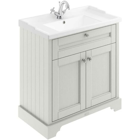 Hudson Reed Old London Floor Standing Vanity Unit with Basin 800mm Wide - Timeless Sand