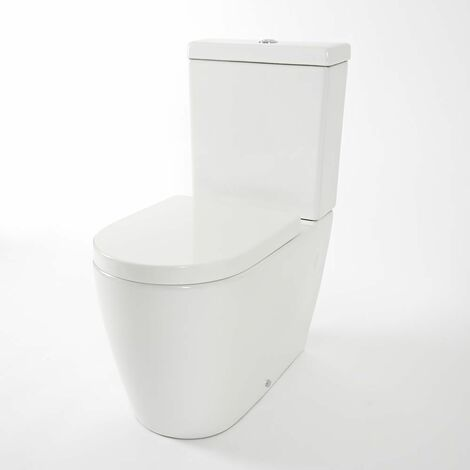 Hudson Reed Otterton - Pack WC avec Abattant à Fermeture Douce Blanc