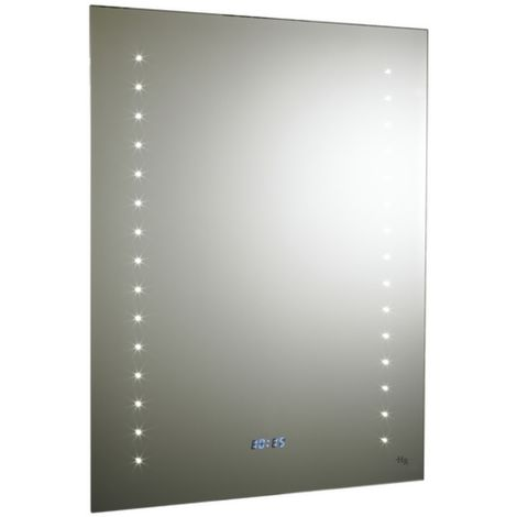Hudson Reed Panorama Backlit Mirror With Demister And Shaving Socket