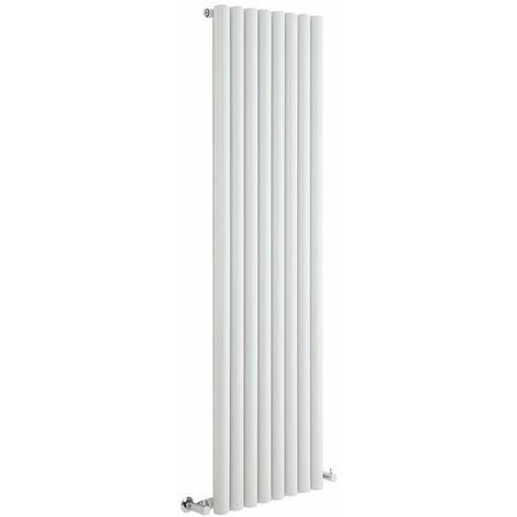 Hudson Reed Radiador de Diseño Vertical - Savy - Blanco - 1600mm x 472mm - 1278 Watt - 562 (Entre Eje)