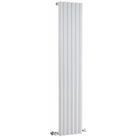 Hudson Reed Radiador de Diseño Vertical - Savy - Blanco - 1780mm x 354mm - 1043 Watt - 444 (Entre Eje)
