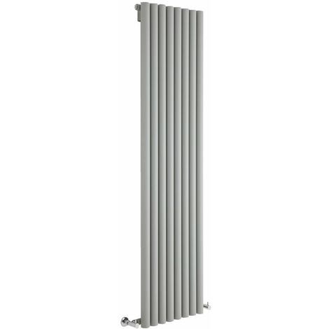 Hudson Reed Radiador de Diseño Vertical - Savy - Plateado - 1780mm x 472mm - 1391 Watt - 562 (Entre Eje)
