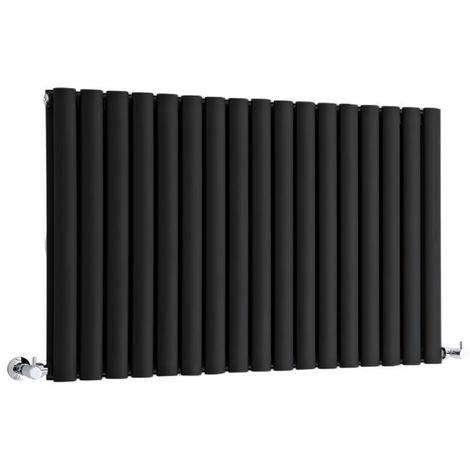 Hudson Reed Radiador Revive Horizontal con Calefacción de Diseño Moderno - Acabado Negro - Diseño de Columna - 635 x 1000mm - 1584W - Calefacción de Lujo