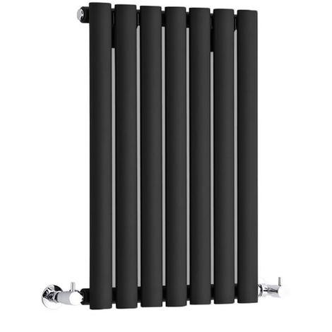 Hudson Reed Radiador Revive Horizontal con Calefacción de Diseño Moderno - Acabado Negro - Diseño de Columna - 635 x 415mm - 418W - Calefacción de Lujo
