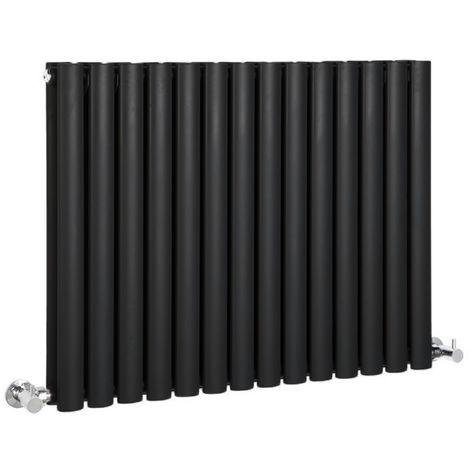Hudson Reed Radiador Revive Horizontal con Calefacción de Diseño Moderno - Acabado Negro - Diseño de Columna - 635 x 834mm - 1304W - Calefacción de Lujo