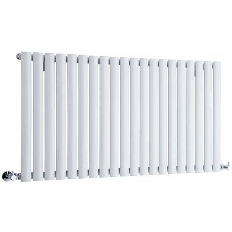 Hudson Reed Radiador Revive Horizontal con Calefacción de Diseño Moderno - Radiador con Acabado en Blanco - Diseño de Columna - 635 x 1180mm - 1194W - Calefacción de Lujo