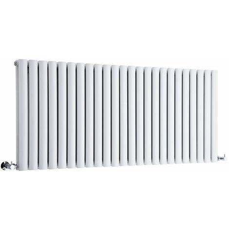 Hudson Reed Radiador Revive Horizontal con Calefacción de Diseño Moderno - Radiador con Acabado en Blanco - Diseño de Columna - 635 x 1411mm - 2236W - Calefacción de Lujo