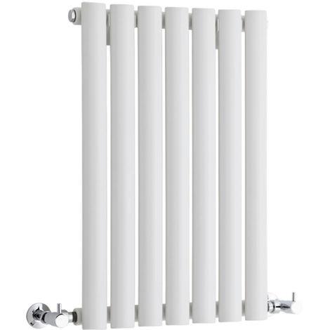Hudson Reed Radiador Revive Horizontal con Calefacción de Diseño Moderno - Radiador con Acabado en Blanco - Diseño de Columna - 635 x 413mm - 418W - Calefacción de Lujo