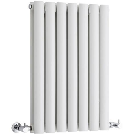 Hudson Reed Radiador Revive Horizontal con Calefacción de Diseño Moderno - Radiador con Acabado en Blanco - Diseño de Columna - 635 x 415mm - 652W - Calefacción de Lujo