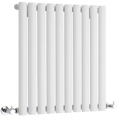 Hudson Reed Radiador Revive Horizontal con Calefacción de Diseño Moderno - Radiador con Acabado en Blanco - Diseño de Columna - 635 x 590mm - 597W - Calefacción de Lujo