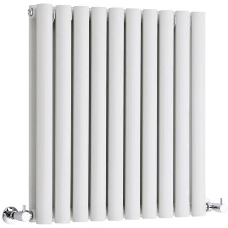 Hudson Reed Radiador Revive Horizontal con Calefacción de Diseño Moderno - Radiador con Acabado en Blanco - Diseño de Columna - 635 x 590mm - 932W - Calefacción de Lujo