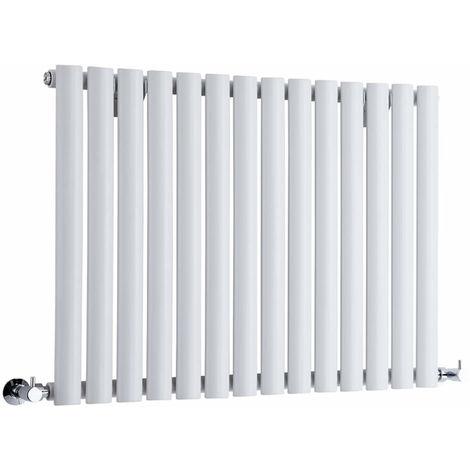 Hudson Reed Radiador Revive Horizontal con Calefacción de Diseño Moderno - Radiador con Acabado en Blanco - Diseño de Columna - 635 x 834mm - 836W - Calefacción de Lujo