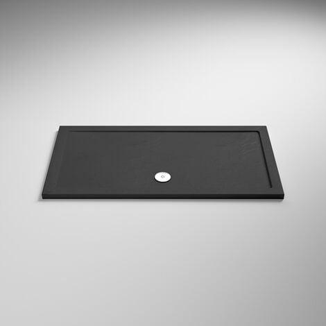 Hudson Reed Rectangular Shower Tray 1500mm x 700mm - Slate Grey