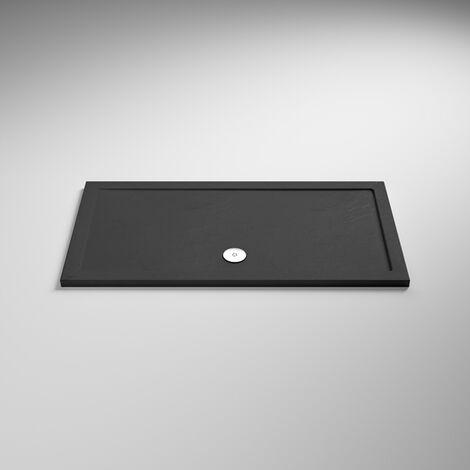 Hudson Reed Rectangular Shower Tray 1600mm x 700mm - Slate Grey