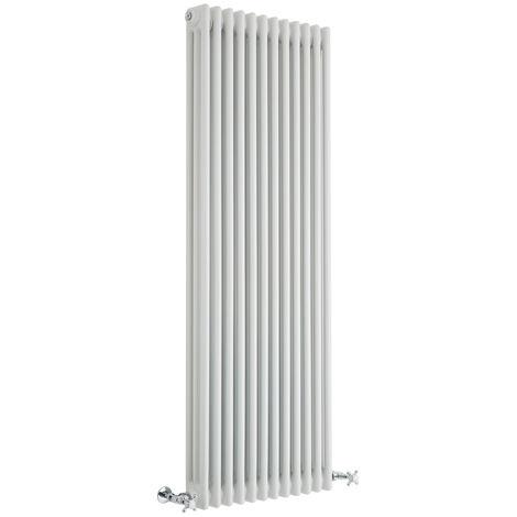 Hudson Reed Regent Radiador de Diseño Vertical en Estilo de Hierro Fundido - Radiador Con Acabado Blanco - Columnas 3 x 12 - 2081W - 1500 x 560 x 100mm - Calefacción de Lujo