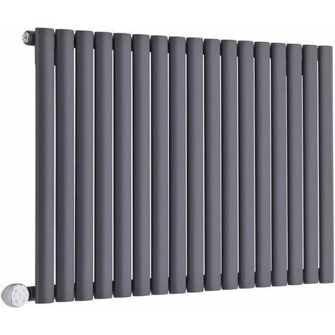 Hudson Reed Revive Radiatore Termoarredo Elettrico di Design Orizzontale - Elemento Riscaldante Termostatico - Termosifone Con Finitura Antracite - 635 x 1000mm