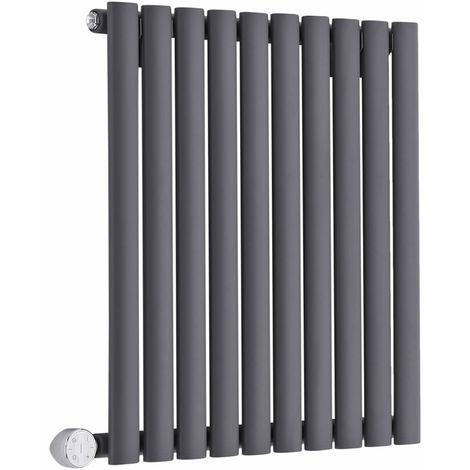 Hudson Reed Revive Radiatore Termoarredo Elettrico di Design Orizzontale - Elemento Riscaldante Termostatico - Termosifone Con Finitura Antracite - 635 x 590mm