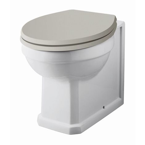 Hudson Reed Richmond Back to Wall Toilet WC 520mm Projection - Excluding Seat