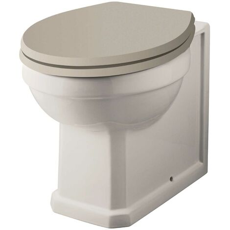 Hudson Reed Richmond Comfort Height Back to Wall Toilet - Excluding Seat