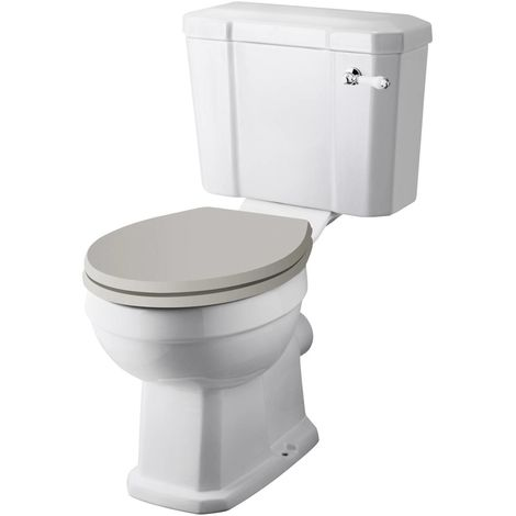 Hudson Reed Richmond Comfort Height Close Coupled Toilet Pan and Cistern - CCR033