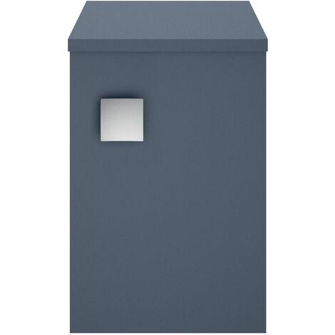 Hudson Reed Sarenna 1-Door Side Cabinet Unit 305mm Wide - Mineral Blue