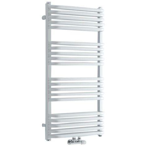 Hudson Reed - Sèche-Serviettes Arch Eau Chaude - Acier Blanc - 100 x 50cm - Chauffage Central 933W