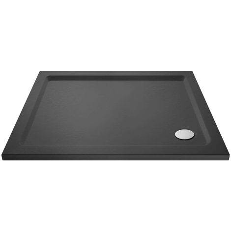 Hudson Reed Slate Grey 1000mm x 800mm Rectangular Shower Tray with Corner Waste - TR71013