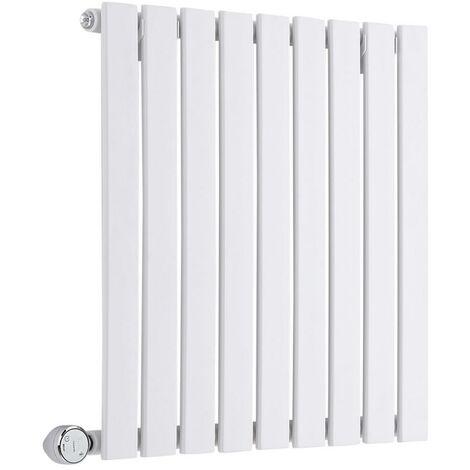 Hudson Reed Sloane Électrique – Radiateur Design Horizontal – Blanc – 63,5 x 60cm