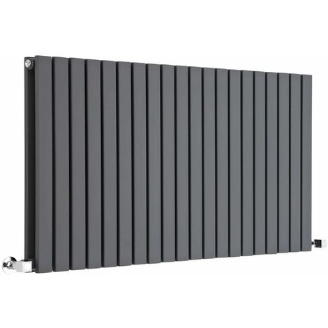 Hudson Reed Sloane – Radiateur Design Horizontal – Anthracite – 63,5 x 118cm Double Rang