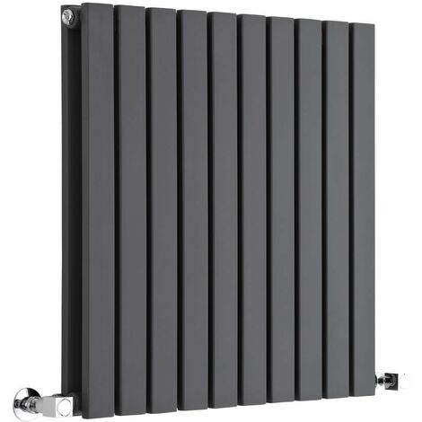 Hudson Reed Sloane – Radiateur Design Horizontal – Anthracite – 63,5 x 60cm Double Rang