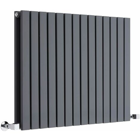 Hudson Reed Sloane – Radiateur Design Horizontal – Anthracite – 63,5 x 83,4cm Double Rang