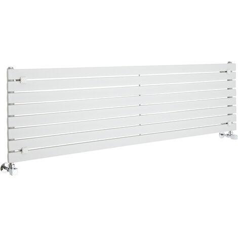 Hudson Reed Sloane – Radiateur Design Horizontal – Blanc – 47,2 x 160cm