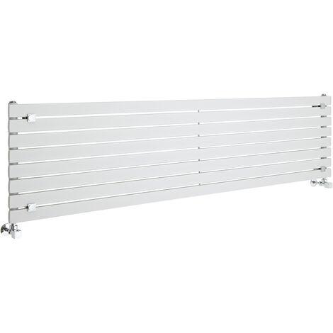 Hudson Reed Sloane – Radiateur Design Horizontal – Blanc – 47,2 x 178cm