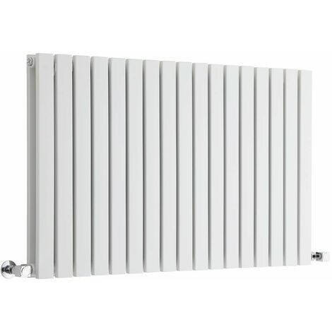 Hudson Reed Sloane – Radiateur Design Horizontal – Blanc – 63,5 x 100cm Double Rang